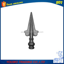 Wrought iron gate hardware ornamental fence tube steel spear top