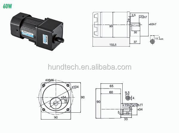 ac gear motor forward reverse electric motor