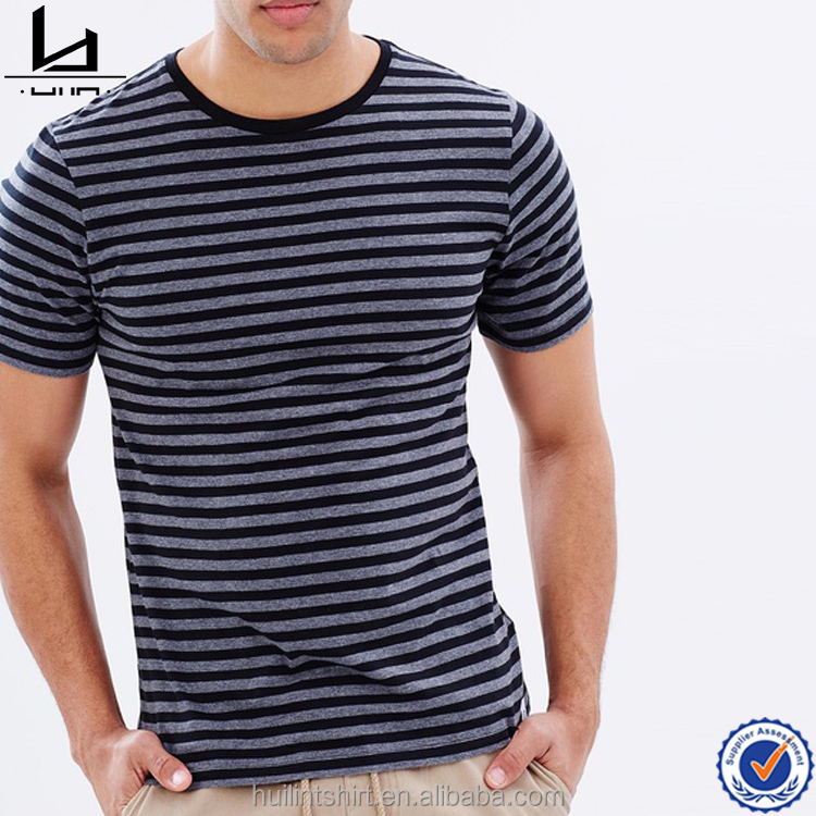 Bandanas online shopping black and grey marle stripes cheap wholesale t shirts