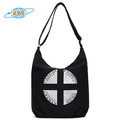 China Suppliers Handbags Black Canvas Zipper Bag