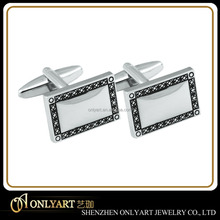 high quality cuff links new design custom engraved logo cufflinks blanks