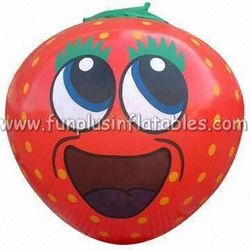 Top quality most popular inflatable helium giant strawberry balloon P3058