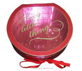 Personalized Round Chocolate Packing box Wholesale with a Ribbon from Manufacturer in Shenzhen