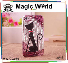 Cute Cat Rhinestone Phone Case For Sony Xperia