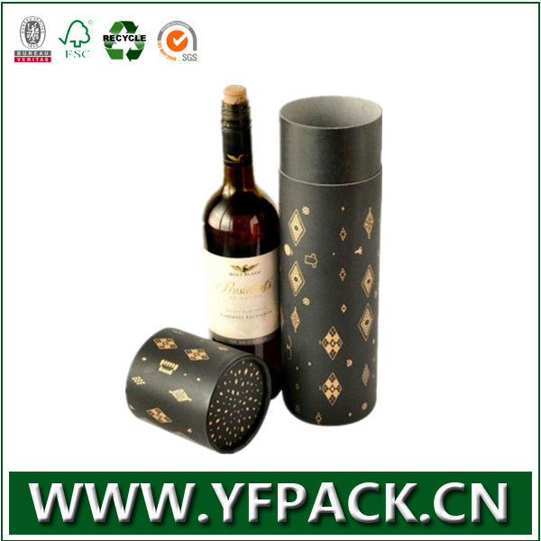 China supplier luxury printing cardboard round wine box with lid