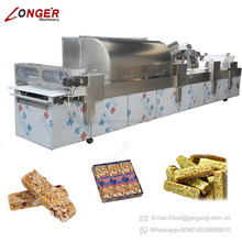 Fully Automatic Peanut Candy Bar Making Machine Nut Brittle Granola Bar Production Line Snack Bar Equipment