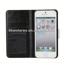 2014 new design pu leather with flip case cover skin for iphone5
