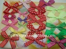 Colorful dot ribbon ptinted flores para el pelo decoracion