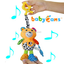 Babyfans 2016 new hot sell baby programmable soft plush baby musical hanging teethers toys