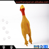 latex chicken toy,yellow latex dog toys