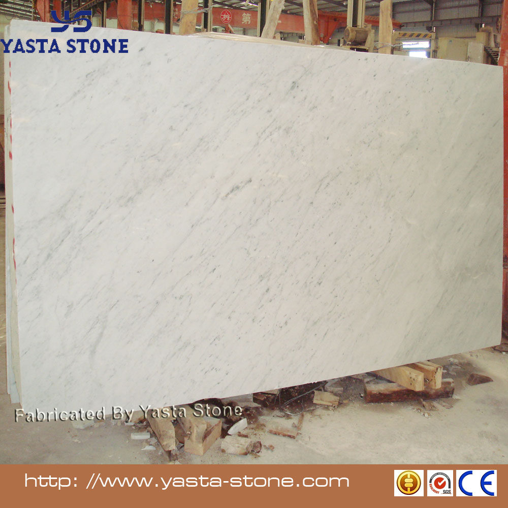 Cheap Price White Marble Slab Bianco Carrara