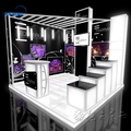 China 3x3 modular aluminum exhibition display design trade show booth