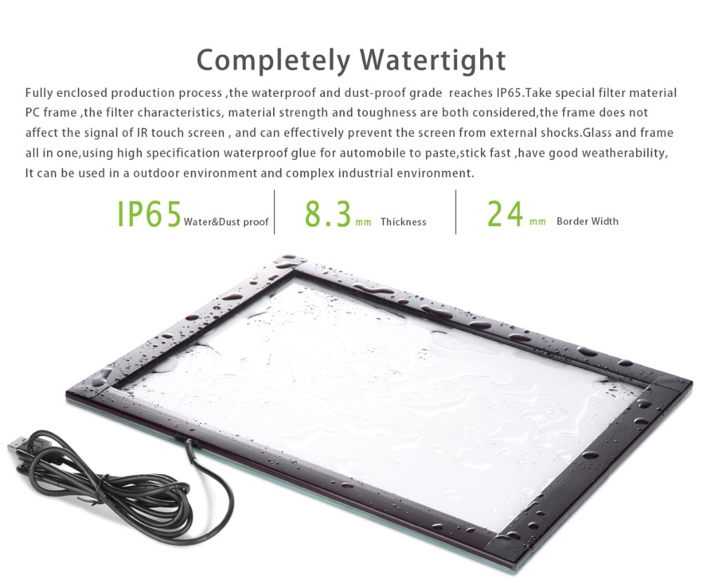 [TMDtouch] 12.1 inch waterproof multi IR touch screen overlay