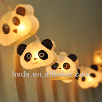 birthday party decoration panda led string lights