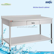 Restaurant Project SUS201 Food Preparation Table with Drawers/Heavy Duty Metal Work Bench Industry Kitchen Factory