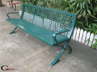 Green 6' outdoor metal benches furniture