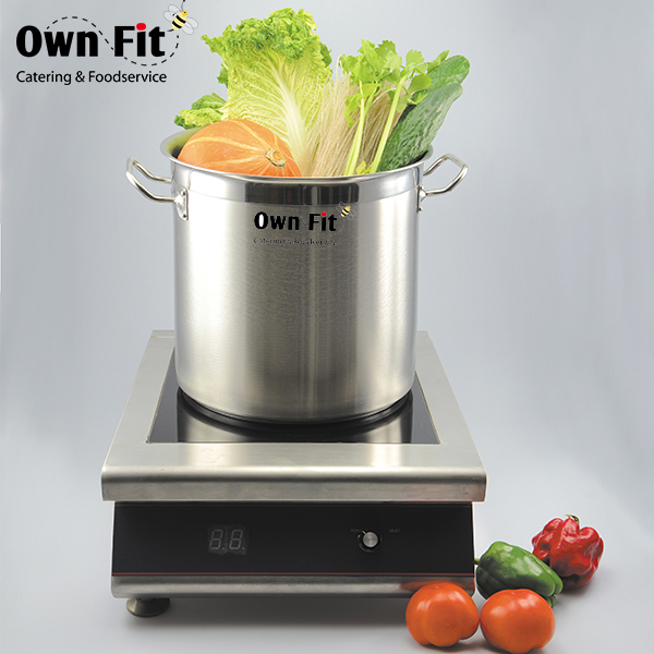 Economic and Reliable reinforced industrial cookware stainless steel stock pot with CE certificate