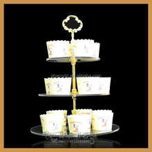 3 tier acrylic cake stand with metal holder,wedding cupcake stand