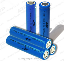 hot selling li-ion 14650 3.7v 1200mAh rechargeable battery for Flashlight