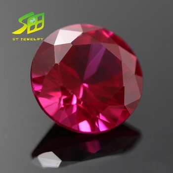 good quality round shape synthetic ruby 5# corundum per price jewelry stone
