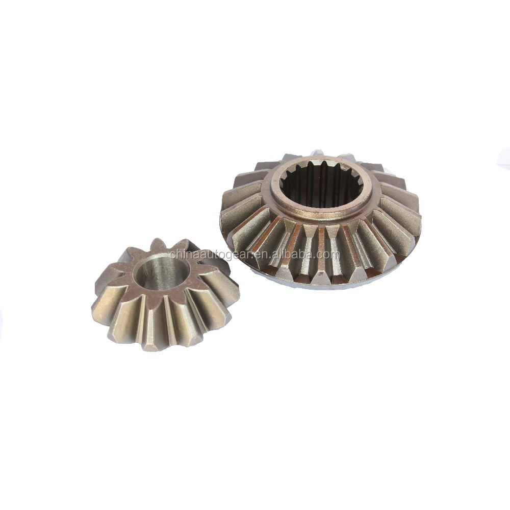custom machining stinless steel crown wheel and pinion gear bevel gear for European cars