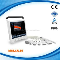 Touch Screen ! MSLCU25H Portable Color dopper ultrasound machine from Guangzhou Factory