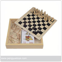 3 in 1 Magnetic Chess Games , xo Chess , Wooden solitaire Game