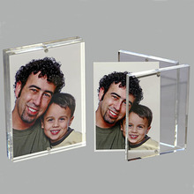 Custom Magnetic Clear Acrylic Table Photo Frame, Lucite Picture Poster Display