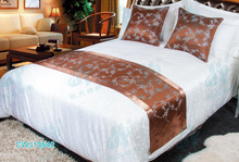 hotel brown bed throw ,brown cushion cover