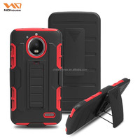 Original design 3 in 1 holster &heavy duty combo case with kickstand anti-shock for MOTO E4
