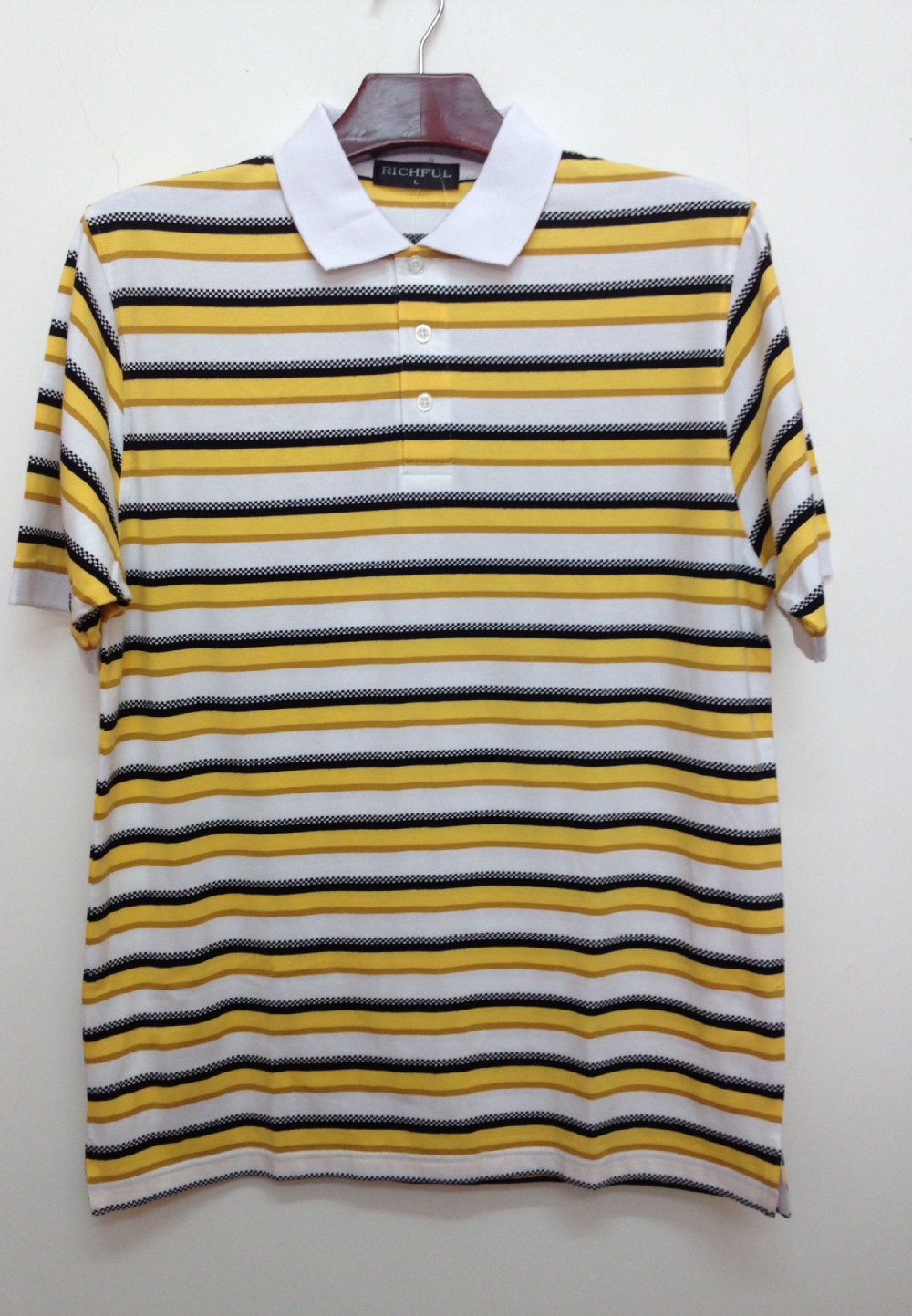 Mens apparel, Wholesale Bulk yarn dyed stripe Polo t Shirt , Cotton jersey couple yarn dyed Polo shirt with jacquard