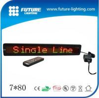 7*80 Programmable LED Moving Message Display Board/LED Sign/Advertising LED Electronic Information Screen