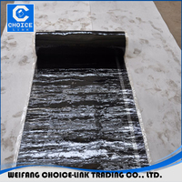 2mm sbs modified bitumen self adhesive concrete wall waterproof membrane