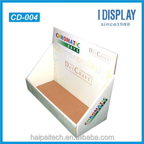 Custom retail cardboard small cardboard counter display stands
