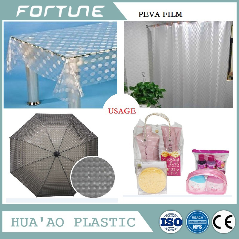soft peva clear film in roll for decorative material