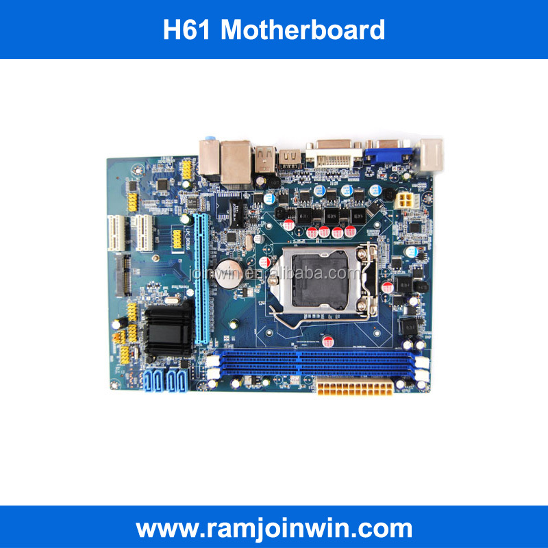 Tested dual channel H61 chipset second hand 1155 motherboards