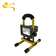 CE ROHS Approved 600-700 LM Lumens toughened glass emergency light 10w rechargeable led flood light