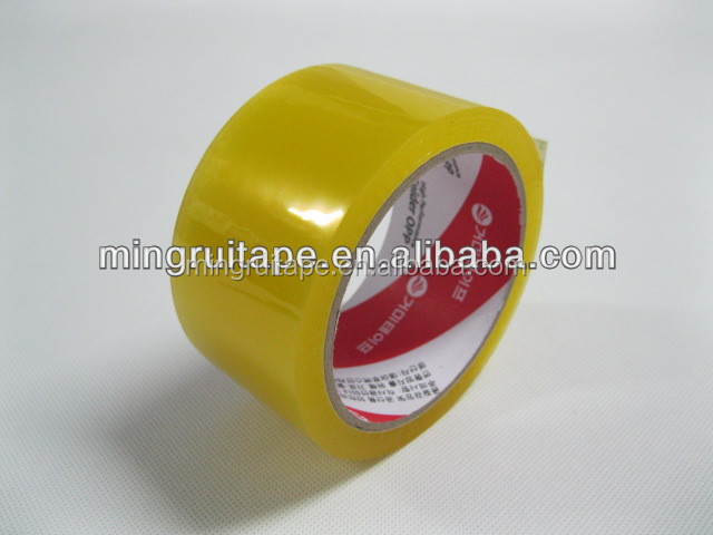 2016 cheap clear adhesive tape of bopp film packing adhesive tape/transparent adhesive tape/color adhesive