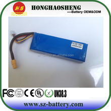 rechargeable rc drone battery 11.1v 2500mah li-polymer battery/high capacity lipo battery for toy helicopter