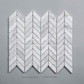 High quality natural bianco carrara chevron marble mosaic tile