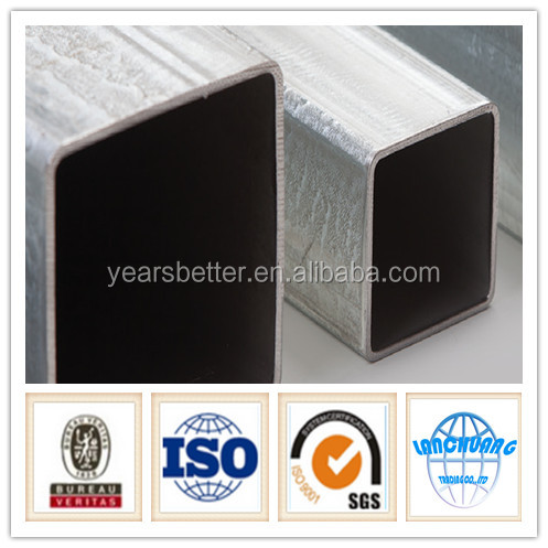 BS1387 galvanzied steel pipes/pre galvanized steel square tubes/cross-section square steel tube