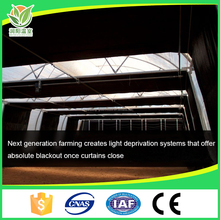 Auto blackout deprivation fabric greenhouse