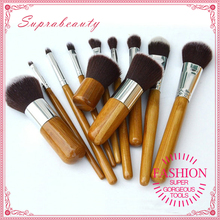 High quality ecofriendly wood handle make up cosmetic brush set