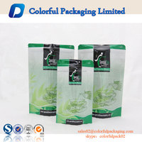accept custom flavored spiced chai tea packaging bag stand up pouch foil teabag