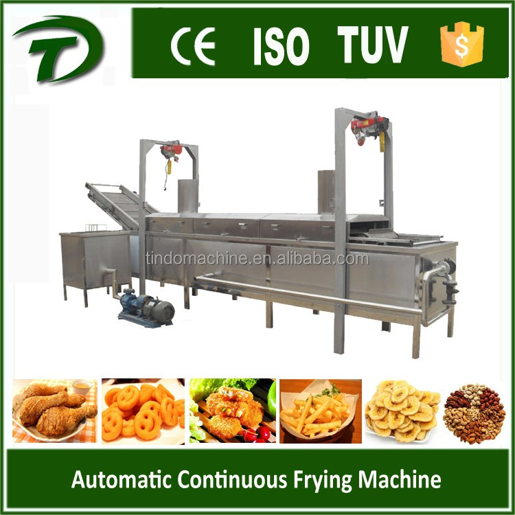 gas heating conveyor deep fat fryer