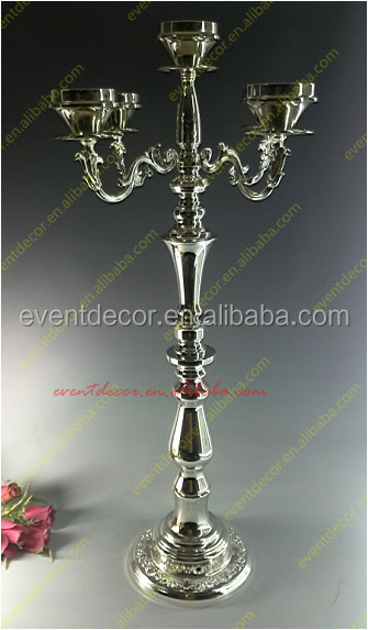 2016 wedding 5 arms silver candelabra centerpieces / 5 arms flower stand candle holder