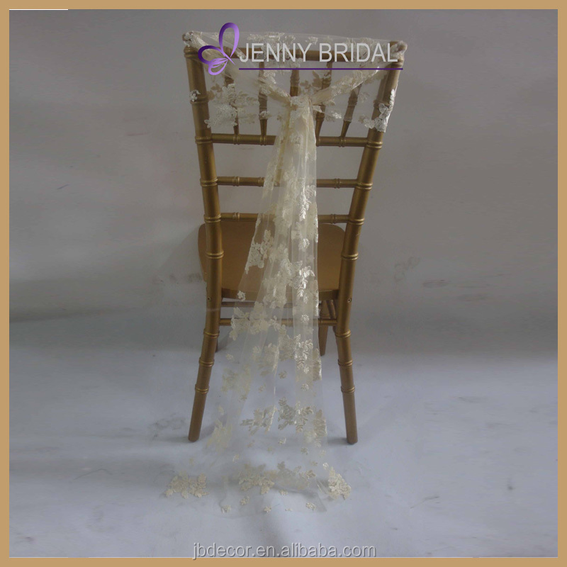 C208A Fancy Lace Chair Sashes For Wedding