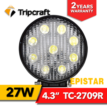 Best price! 27W Round led worklight for car boat offroad driving