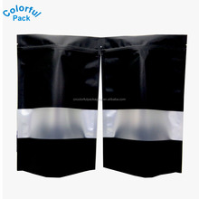 Poly laminated aluminum foil zipper bag chip bags stand up pouch