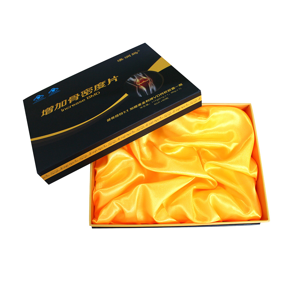 Customized cmyk paperboard satin lined gift boxes